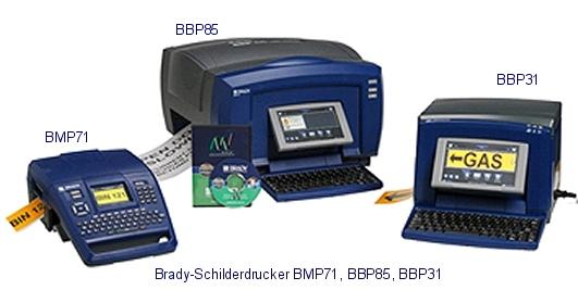 Schilder selber drucken mit Schilderdrucker BBP85, BBP31 und BMP71