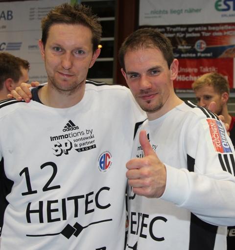 Torwarte des HC Erlangen: Jan Stochl und René Selke