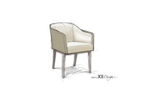 """Skizze: JOI-Design/ MMV Armlehnstuhl """"HARRY"""""""