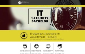 Startseite der Website des Studiengangs IT Security