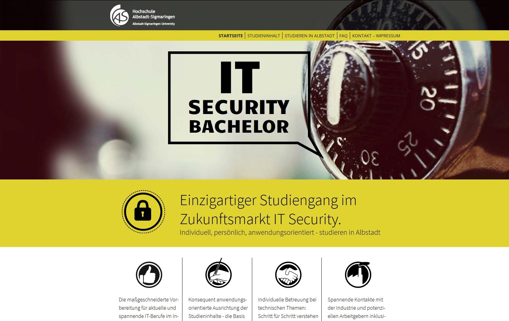 Einzigartiger Studiengang im Zukunftsfeld IT Security
