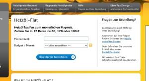 Flat-Bestellformular auf  http://www.fastenergy.de/heizoel-flat