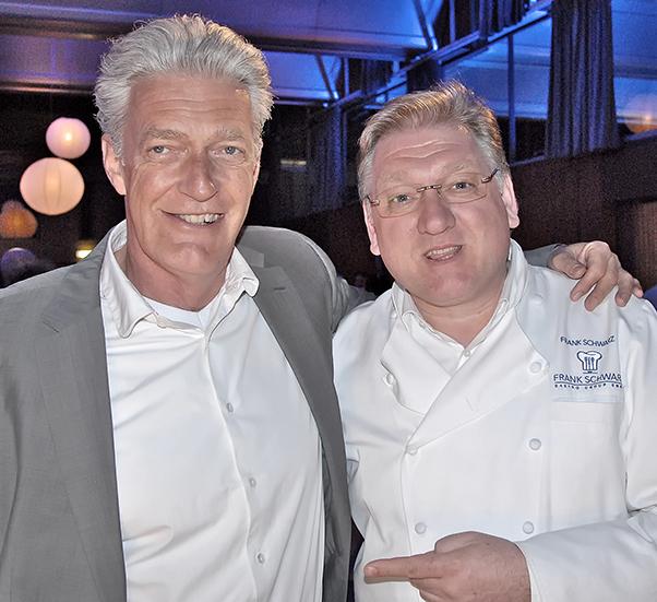 Verstanden sich auf Anhieb: Der Schweizer Moderator Max Moor (l.) und der Duisburger TV-Koch Frank Schwarz.  Quelle: FSGG