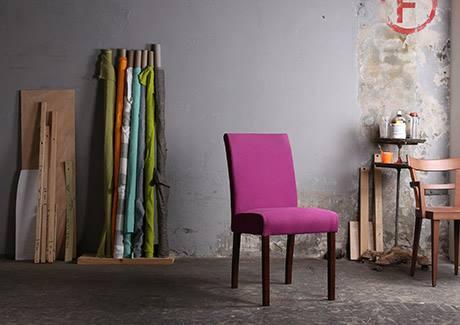 Stoffe machen Stühle. Esszimmerstühle von Design Atelier Blue Wall
