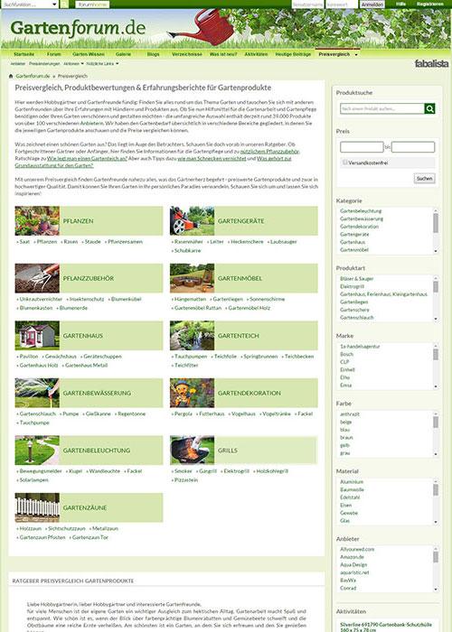 Gartenausrüstung schnell und günstig online kaufen: Das neue Preisvergleichstool auf gartenforum.de