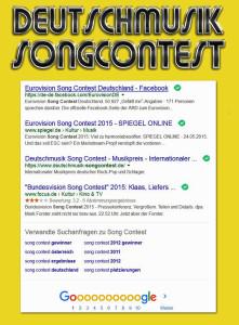 Deutschmusik Song Contest - Screenshot vom 18 November 2015