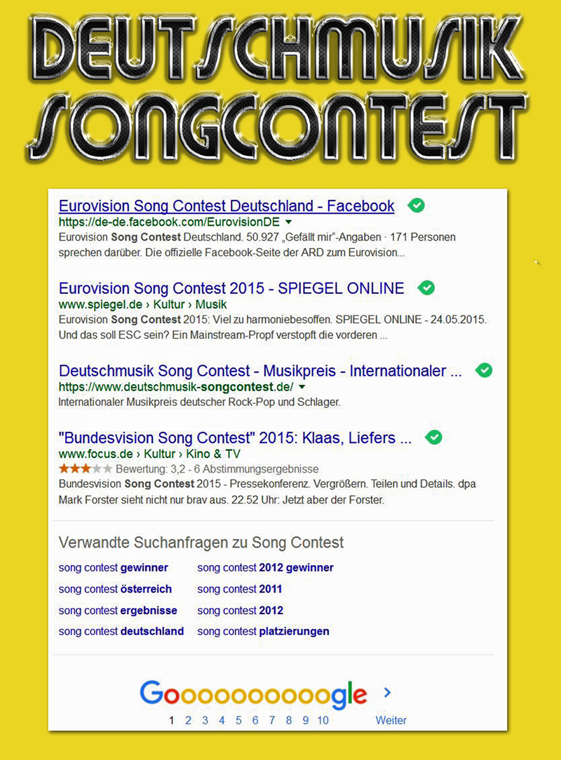 Deutschmusik Song Contest - Screenshot vom 18 November 2015