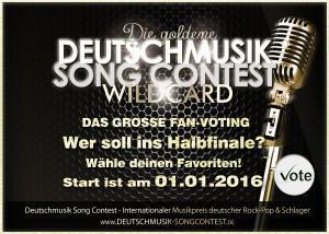 Deutschmusik Song Contest 2016 - Die goldene Wildcard