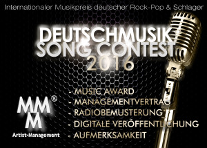 Deutschmusik Song Contest 2016 - Managementvertrag für Gewinner