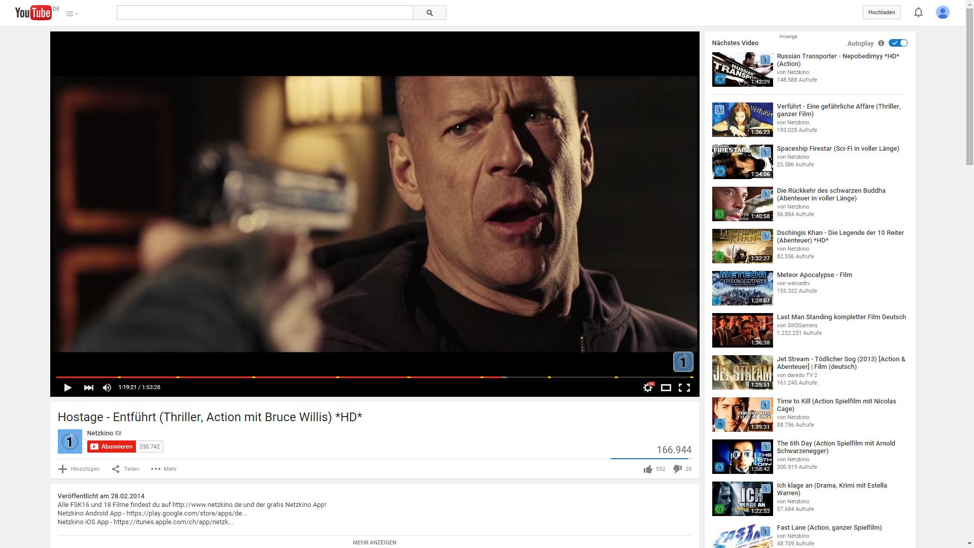 520310c2d89 Mit täglich über 250.000 Filmabrufen ist Netzkino der größte  deutschsprachige Spielfilmkanal auf YouTube.