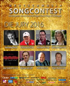 Musikpreis deutschsprachiger Rock-Pop und Schlager - Deutschmusik Song Contest - Die Jury 2016