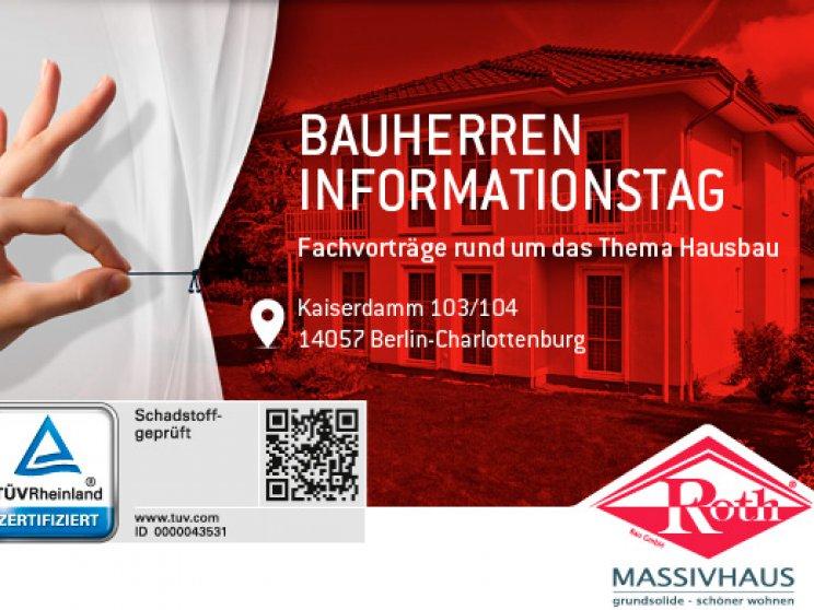 21. Mai 2017 | Einladung von Roth-Massivhaus | Bauherren-Informationstag in Berlin-Charlottenburg