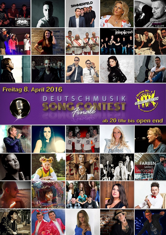 Deutschmusik Song Contest - Musikpreis deutschsprachiger Rock-Pop und Schlager Finale 2016