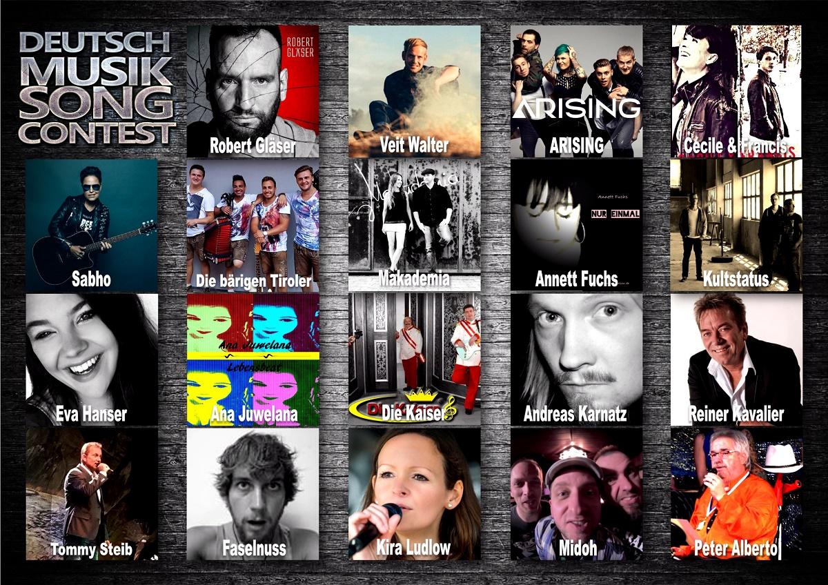 Deutschmusik Song Contest 2017 - erste Teilnehmer stehen fest