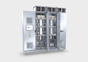 Umrichter von Knorr-Bremse PowerTech: Der zuverlässige und effiziente Betrieb von Energiegewinnungssystemen wie einer Windkraftanlage oder in industriellen Speichersystemen ist gesichert.