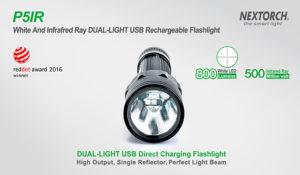 Weißes Licht mit 800 Lumen oder Infrarot-Licht mit 500mw