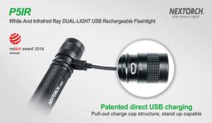 Diese Taschenlampe kann über jeden USB-Aschluss aufgeladen werden!