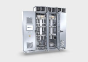Converter from Knorr-Bremse PowerTech: assuring reliable and efficient operation of power generation systems such as wind turbines or in industrial storage systems.