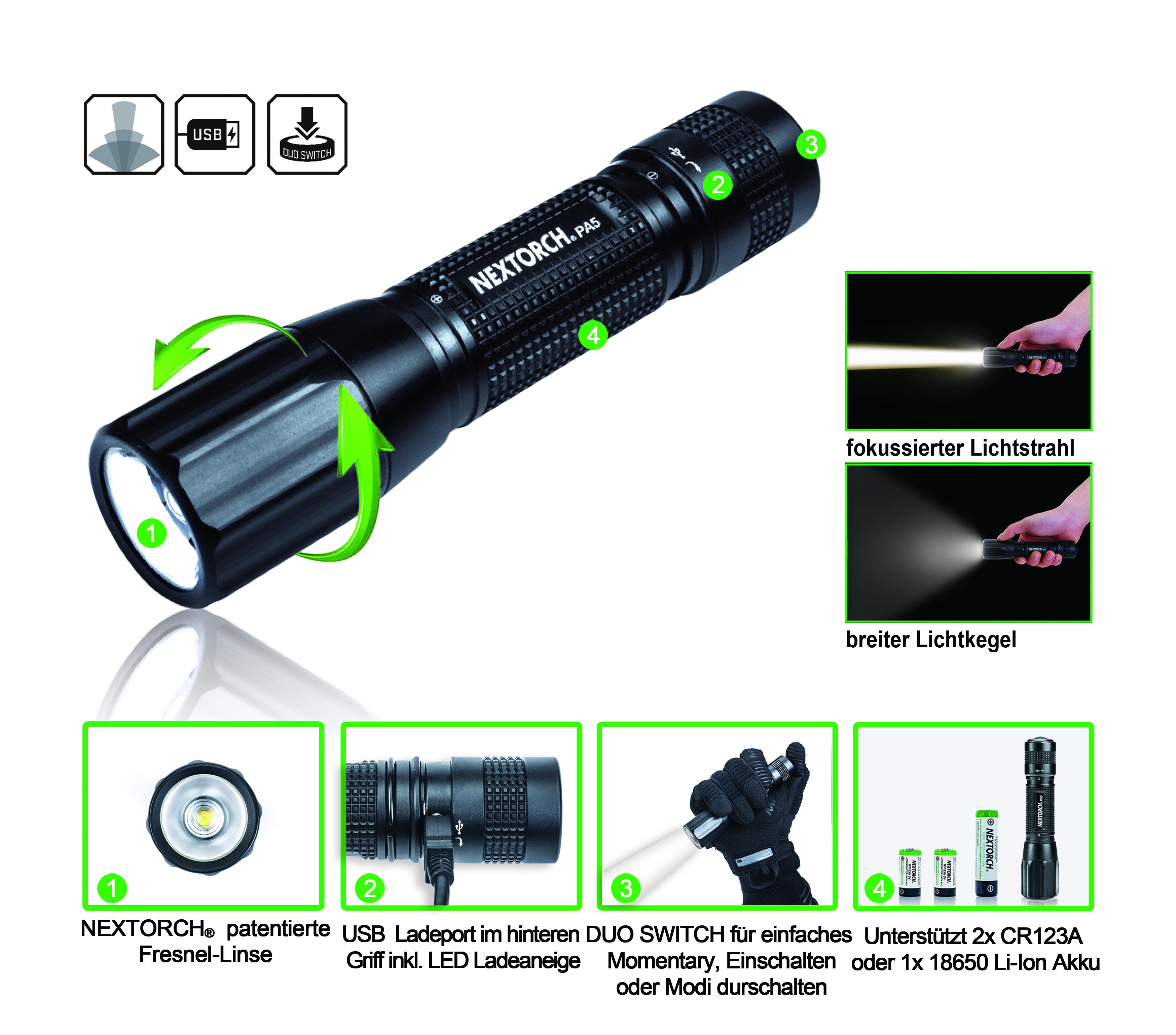 Fokussierbare Marken-Taschenlampen