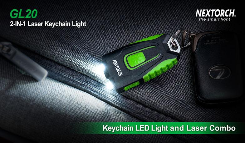 Aufladen über USB mit Laser - Schlüsselbund LED-Licht