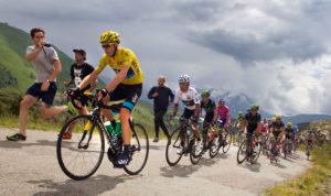 Radrennen auf der Alpe d'Huez