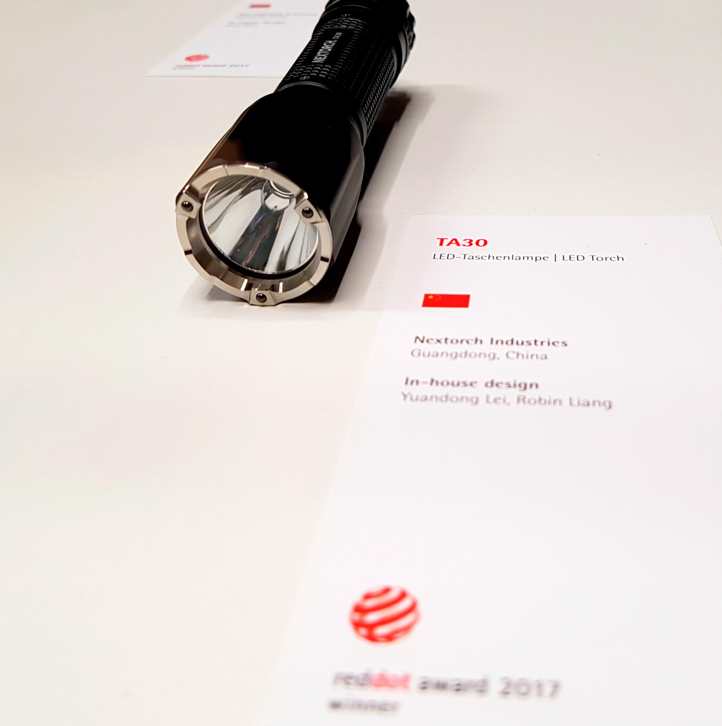Design- und Produktaward für eine LED-Taschenlampe
