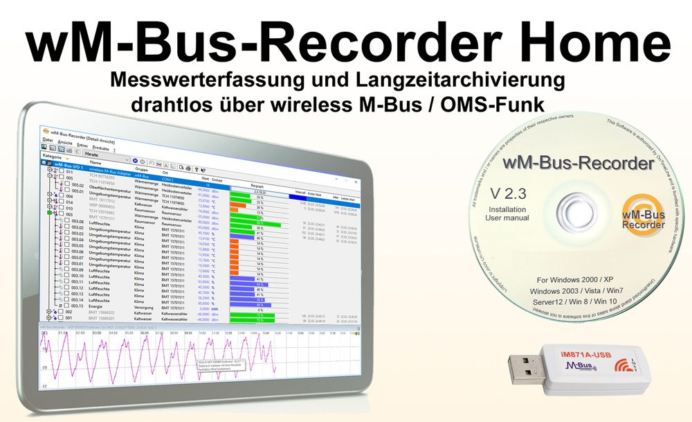 wireless M-Bus-Recorder