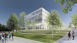 Siegerentwurf für das Schulzentrum Gerthe in Bochum vom Essener Architekturbüro Brüning Rein