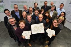Drei Siegerentwürfe für das Schulzentrum Gerthe in Bochum