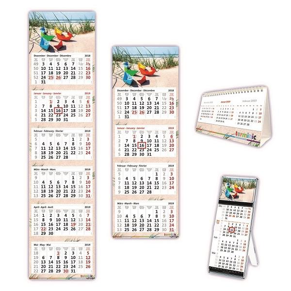 Blickfang im Büro: terminic Kalender sind Alltagshelfer und Werbeträger in einem