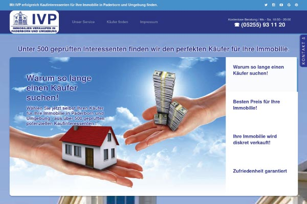 Immobilien Leadpage - Landingpage
