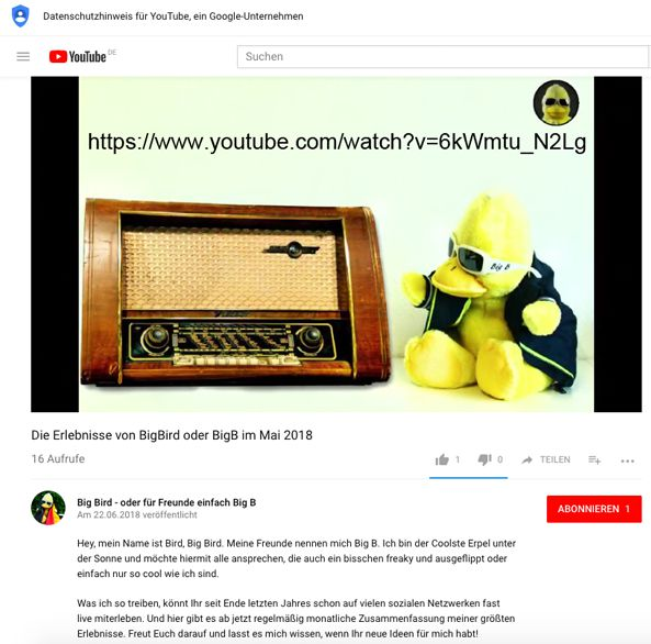 Endlich ist es soweit: BigB aus Beckum hat seinen eigenen YouTube-Kanal eröffnet.