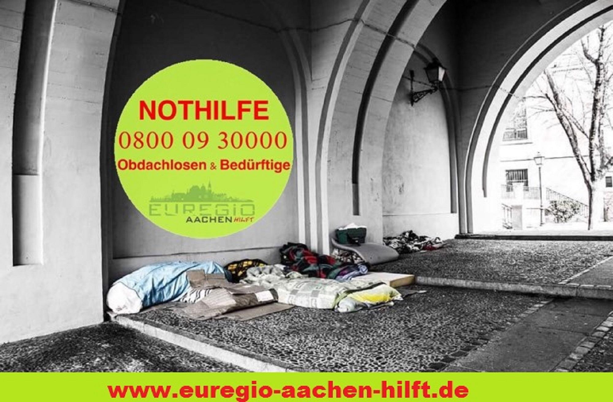 Aachens einzige kostenlose Notfallhotline für Wohnungs- und Obdachlose