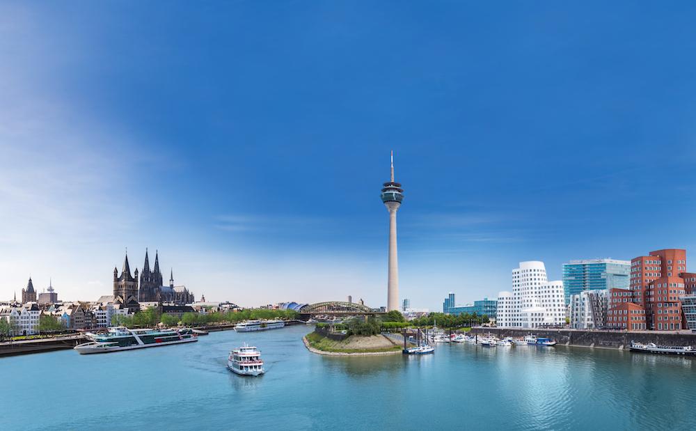 Bildmontage Köln und Düsseldorf entlang des Rheins - Foto: Hüttig & Rompf AG