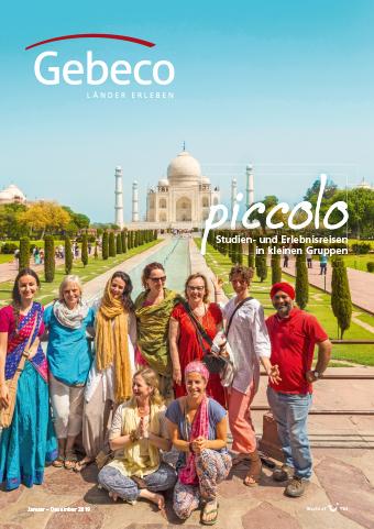 Der Kleingruppen-Katalog von Gebeco