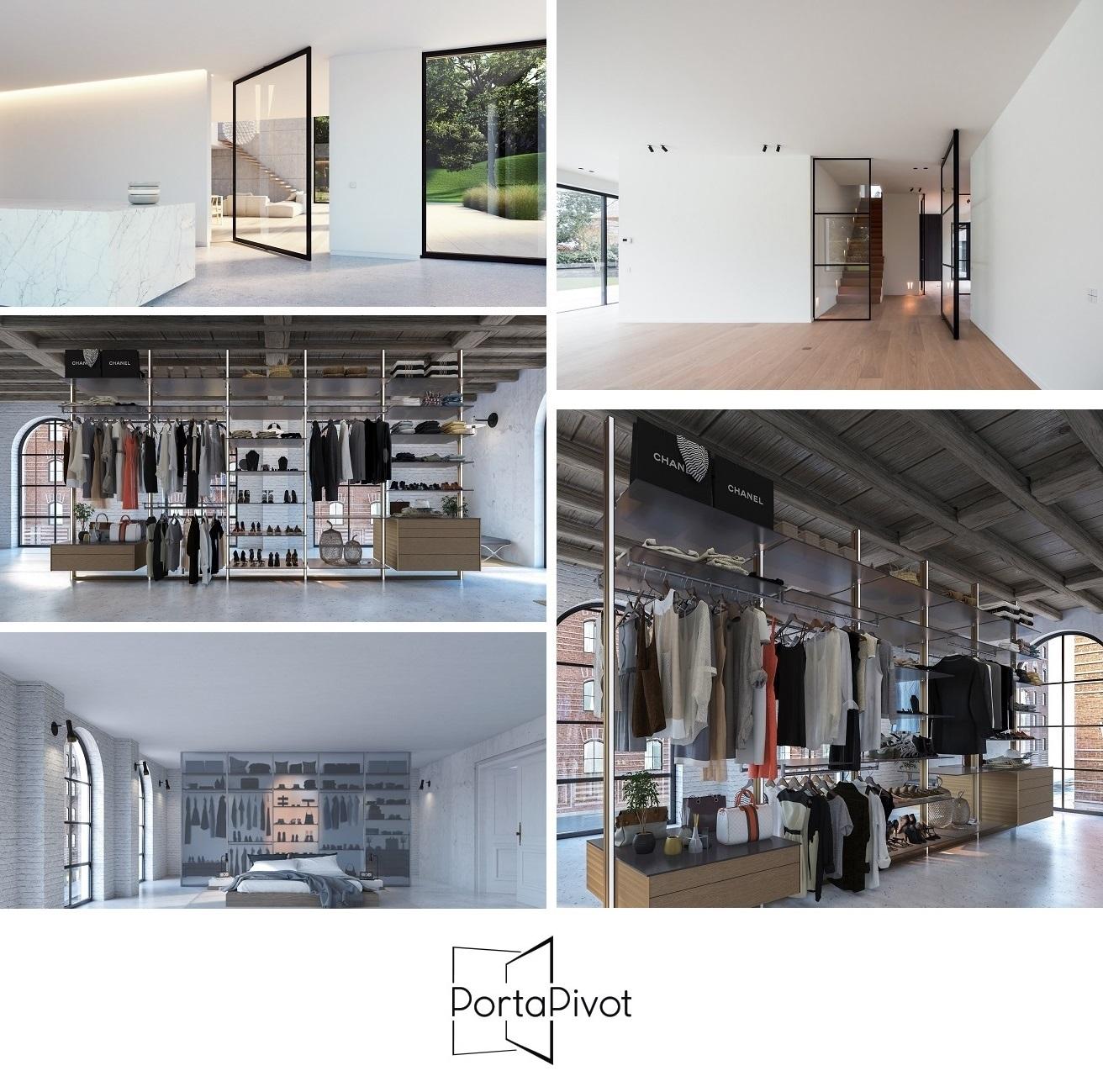 IMM Cologne 2019: PORTAPIVOT präsentiert Pivoting room dividers & Dress Wall