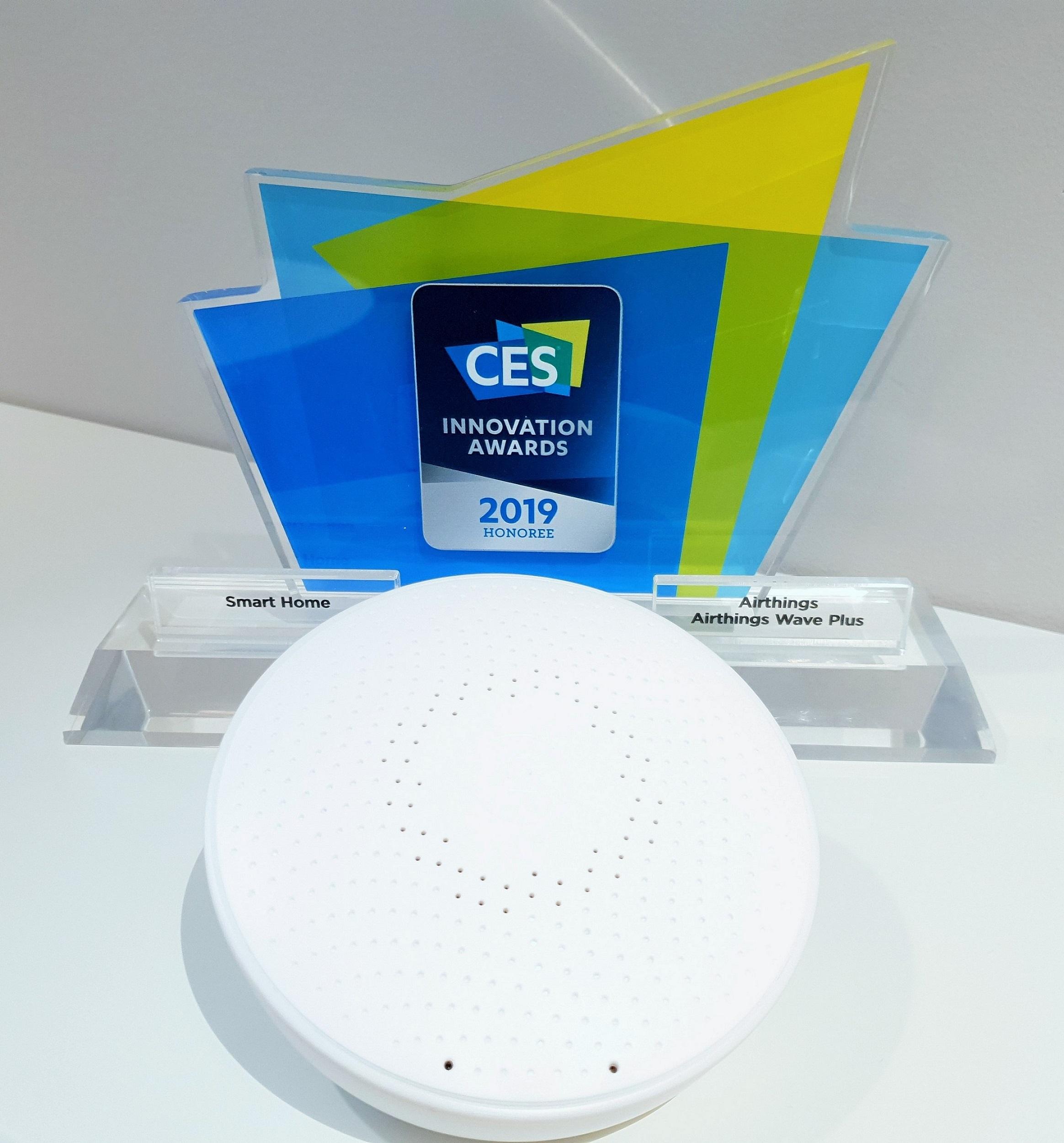 Airthings wurde mit dem CES Innovation Awards Honoree 2019 ausgezeichnet