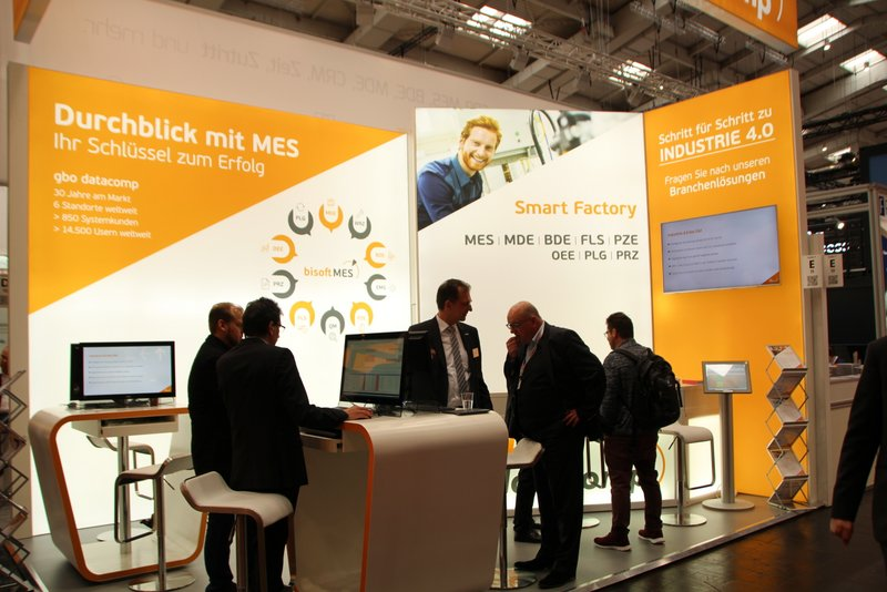 gbo datacomp präsentiert seine MES-Branchenkompetenz auf der Digital Factory in Hannover