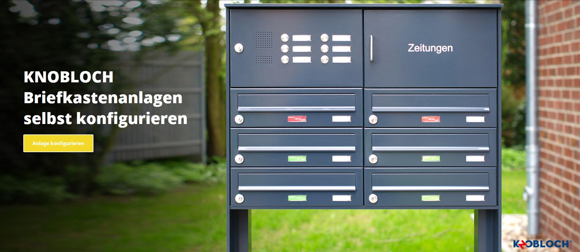 Briefkastenanlagen jetzt selbst konfigurieren