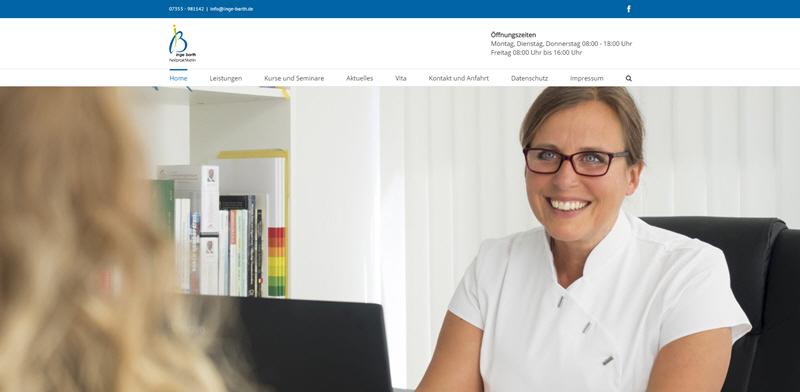 Neue Website der Heilpraktikerin Inge Barth