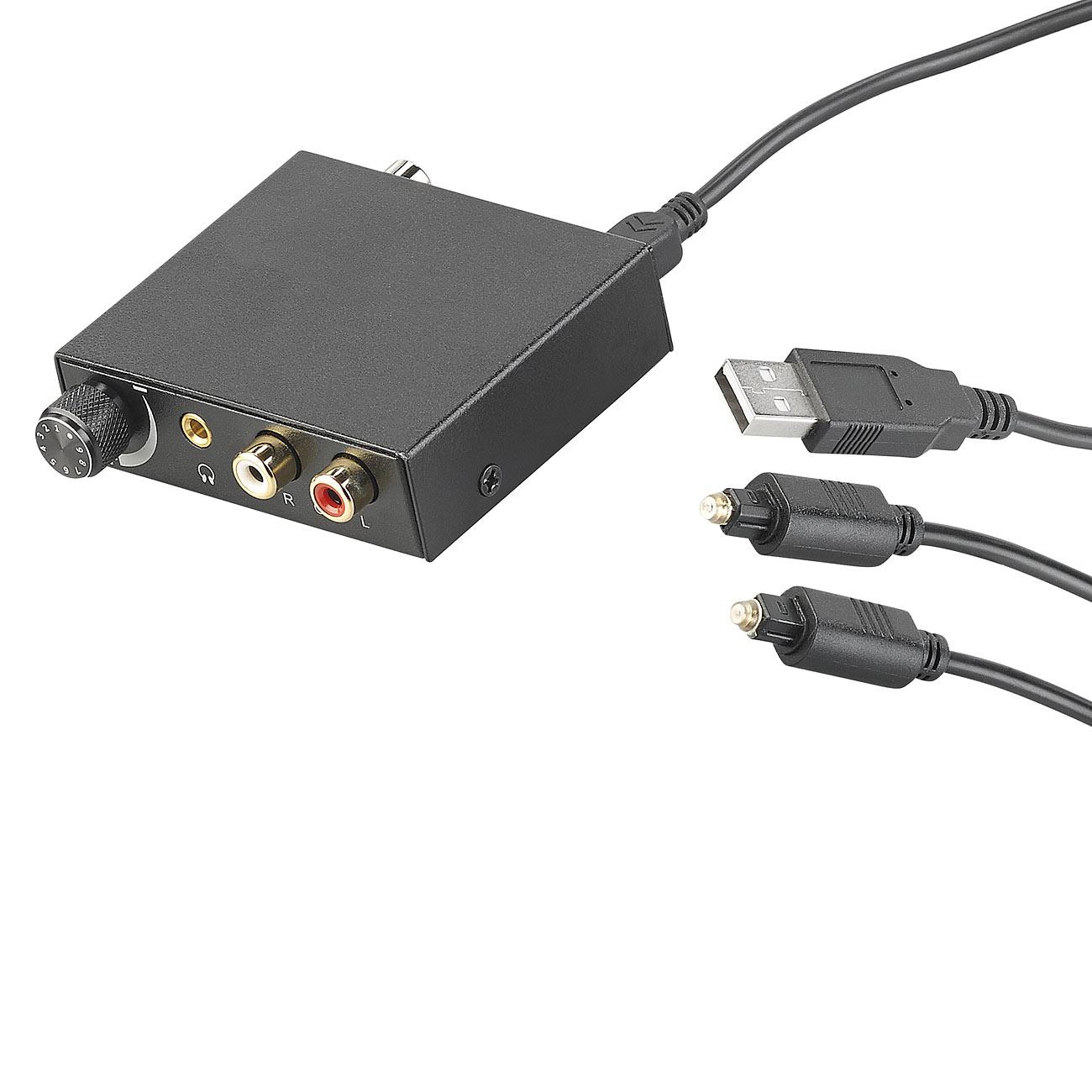 auvisio Audio-Konverter digital (TOSLINK) zu analog