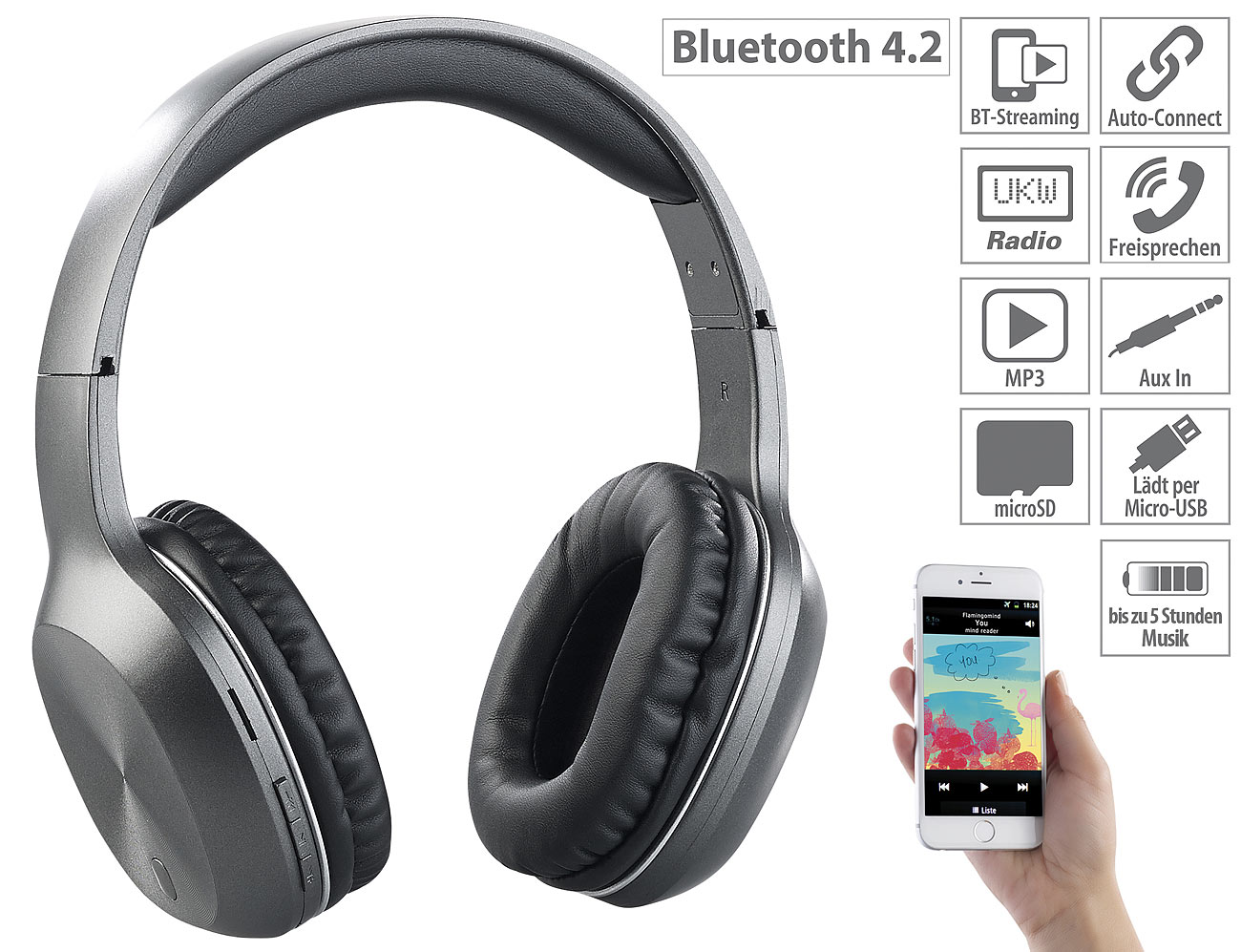 auvisio Over-Ear-Headset OHS-160.fm