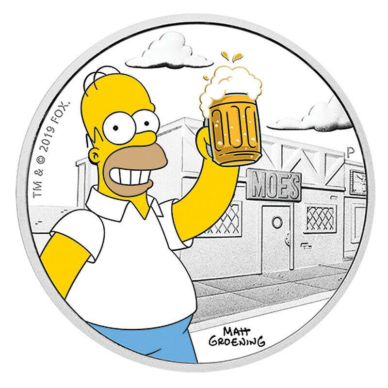 Homer Simpson auf australischer Silbermünze in Deutschland nachgefragt