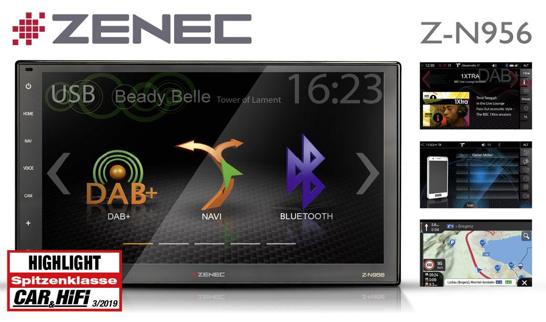 """ZENECs Z-N956 Infotainer als """"Highlight"""" ausgezeichnet"""