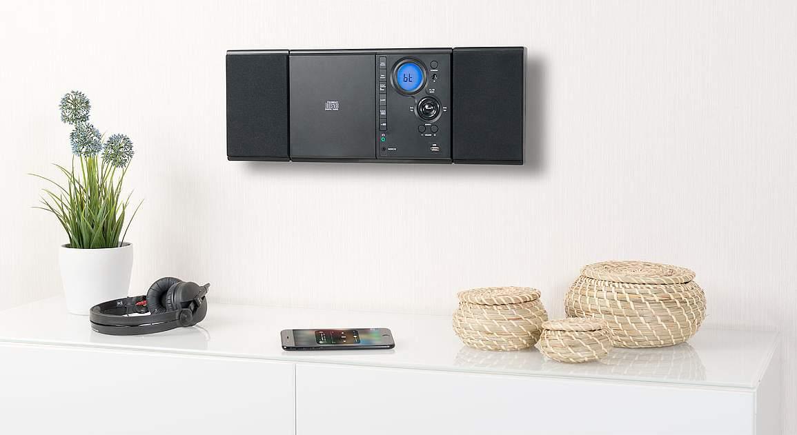 auvisio Vertikale Stereo-Kompaktanlage MSX-500 mit FM