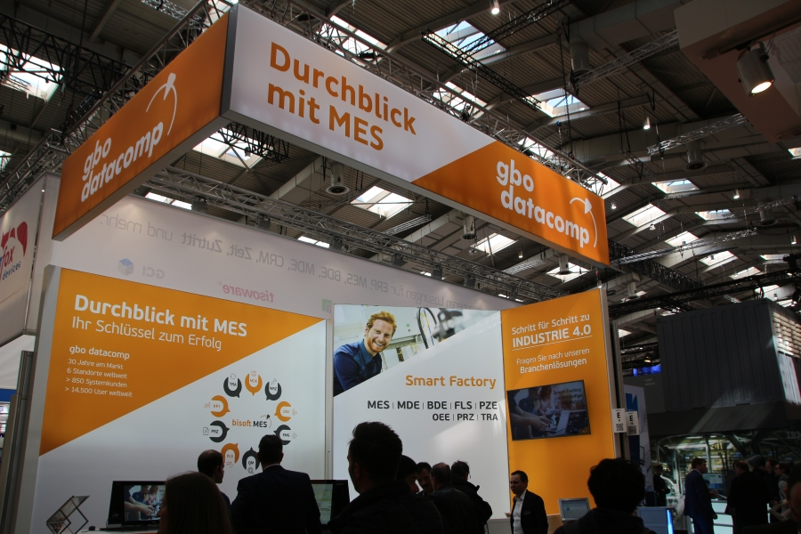 gbo datacomp mit bisoftMES erfolgreich auf Hannover Messe