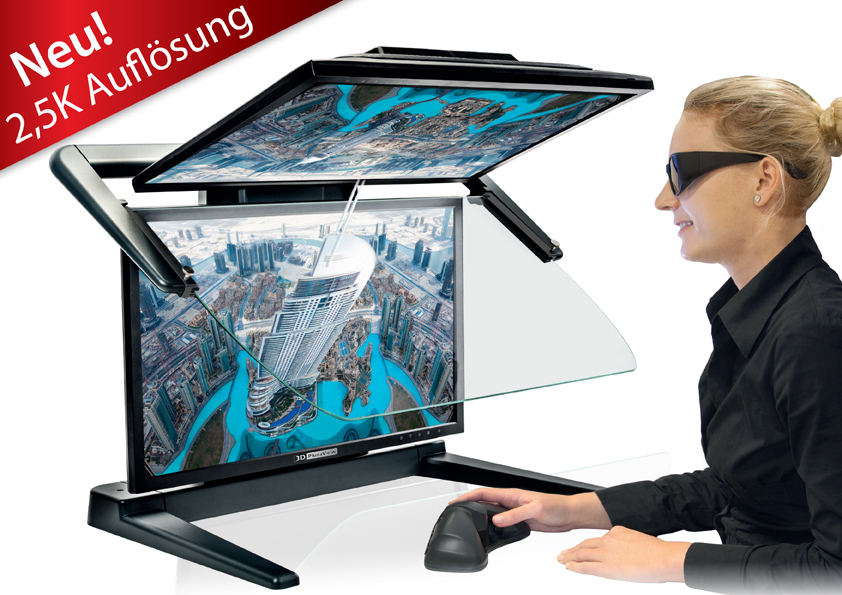 Neues 3D PluraView Basis-Modell mit 2,5K