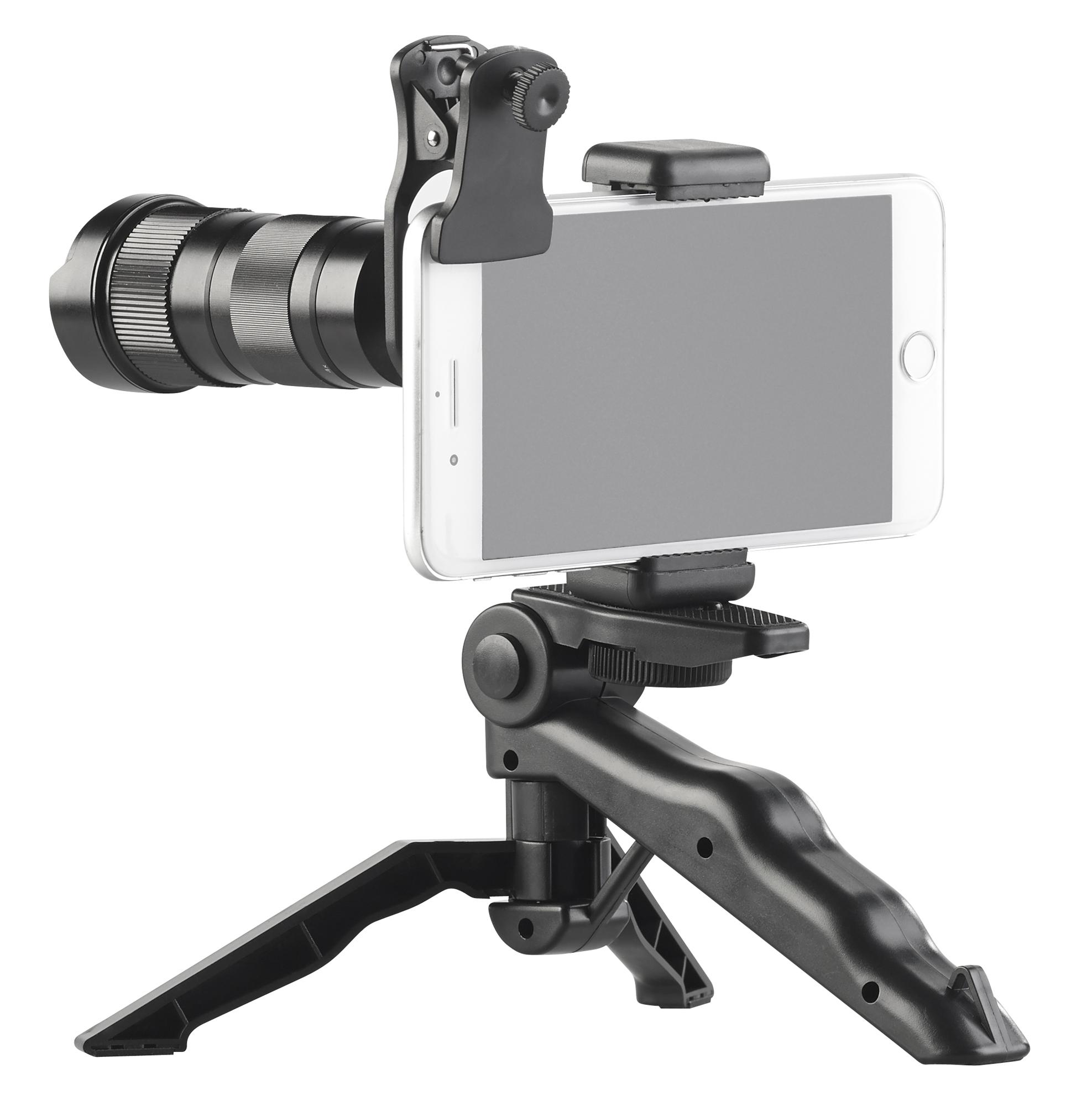 Somikon Vorsatz-Tele-Zoom-Objektiv CVL-250.zoom 4x – 12x