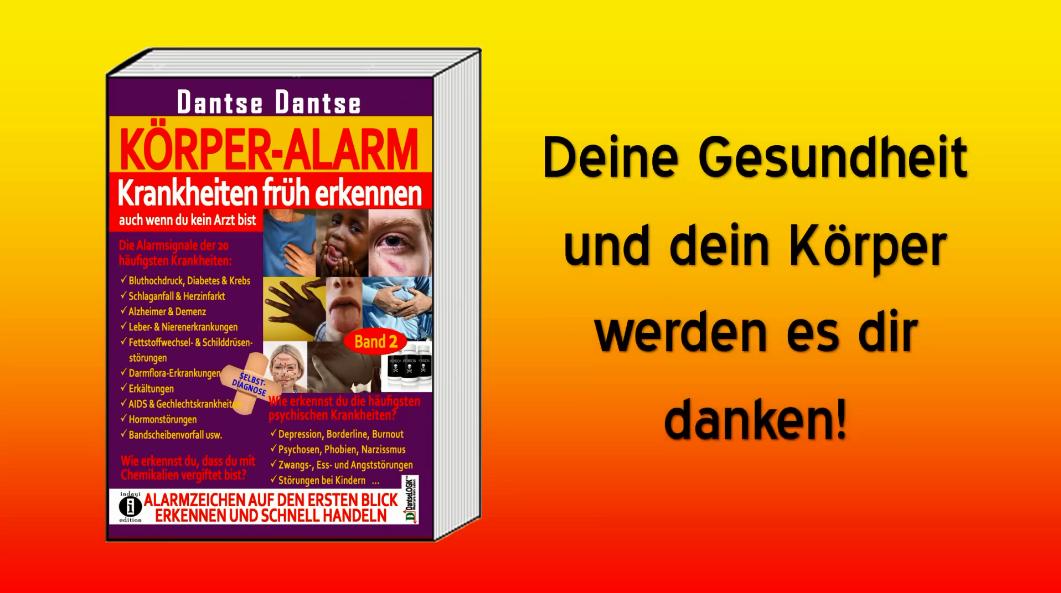 Buchvorstellung: KÖRPER ALARM Band 2 – Selbstdiagnose-Ratgeber von Dantse Dantse (indayi edition)