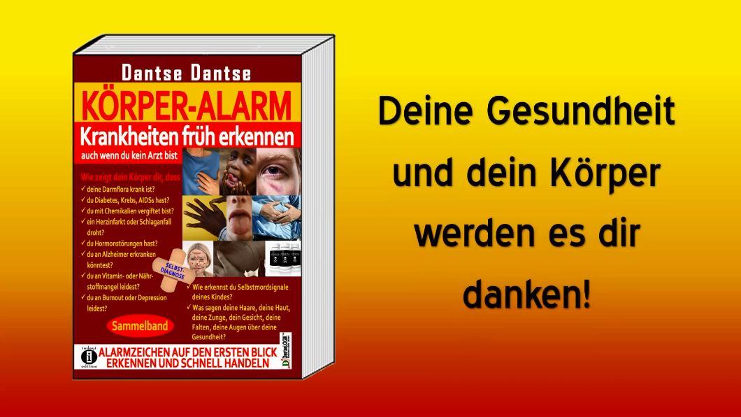 Buchvorstellung: KÖRPER ALARM (Sammelband) – Selbstdiagnose-Ratgeber von Dantse Dantse (indayi edition)